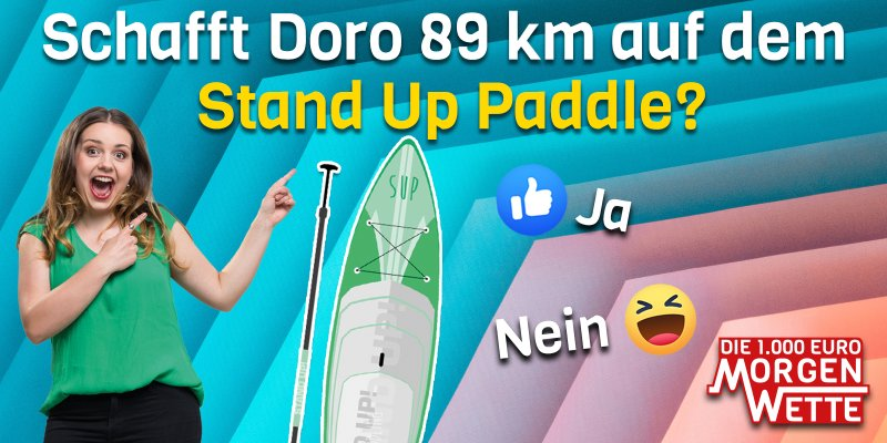 Die Stand Up Paddle Wette