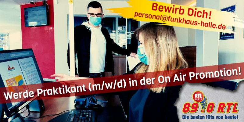 Praktikant (m/w/d) in der On Air-Promotion für mind. 3 Monate